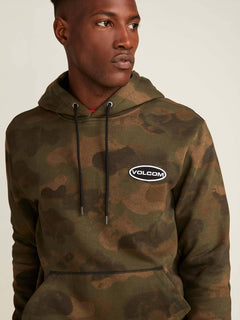 Shop Pullover Hoodie In Camouflage, Alternate View