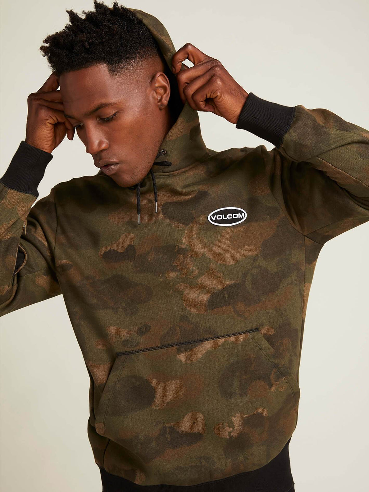 Shop Pullover Hoodie In Camouflage, Second Alternate View