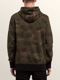 Shop Pullover Hoodie In Camouflage, Back View