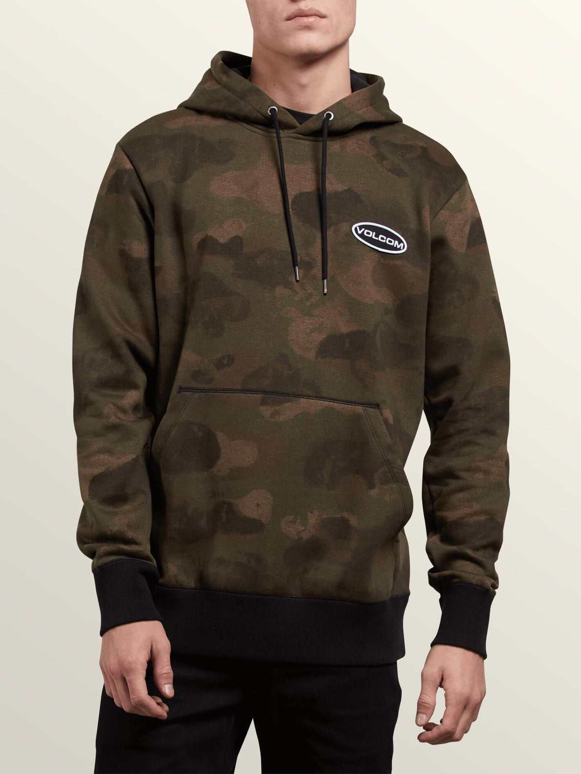 Shop Pullover Hoodie In Camouflage, Front View