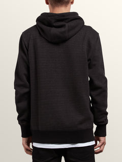 Shop Pullover Hoodie In Lead, Back View