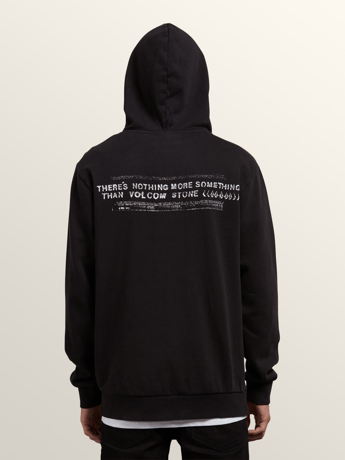 Thrifter Pullover Hoodie In Black, Back View