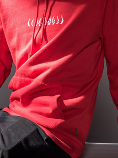 Thrifter Pullover Hoodie In Spark Red, Second Alternate View