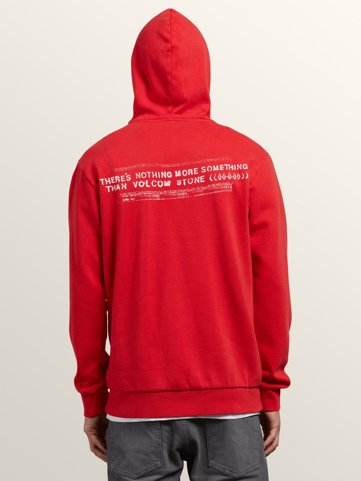 Thrifter Pullover Hoodie In Spark Red, Back View