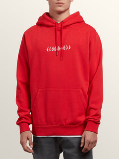 Thrifter Pullover Hoodie In Spark Red, Front View