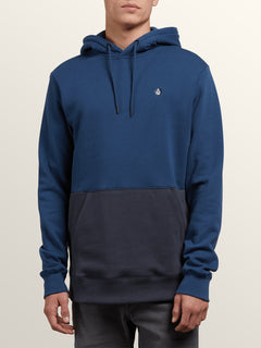 Single Stone Division Pullover Hoodie In Matured Blue, Front View
