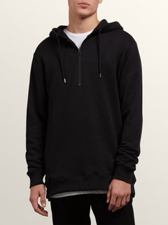 Index Pullover Hoodie In Black, Front View
