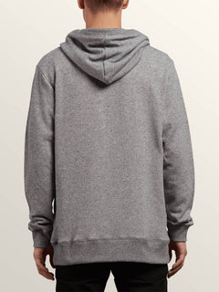 Index Pullover Hoodie In Grey, Back View