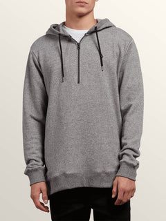 Index Pullover Hoodie In Grey, Front View