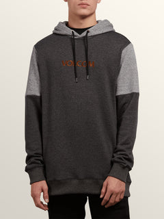 Profile Pullover Hoodie In Black, Front View