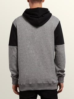 Profile Pullover Hoodie In Grey, Back View