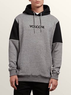 Profile Pullover Hoodie In Grey, Front View