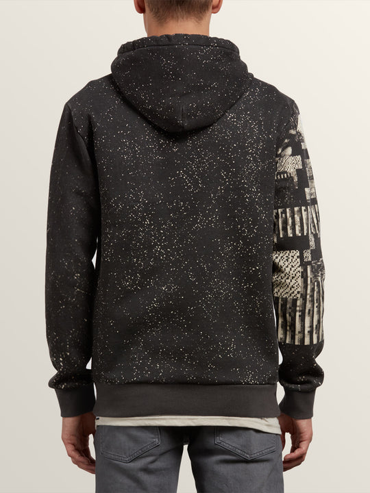 Noa Noise Pullover Hoodie In Black, Back View