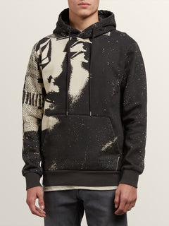 Noa Noise Pullover Hoodie In Black, Front View