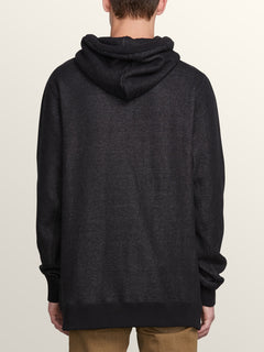 Coder Pullover Hoodie In Black, Back View
