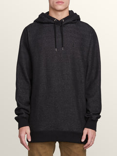 Coder Pullover Hoodie In Black, Front View