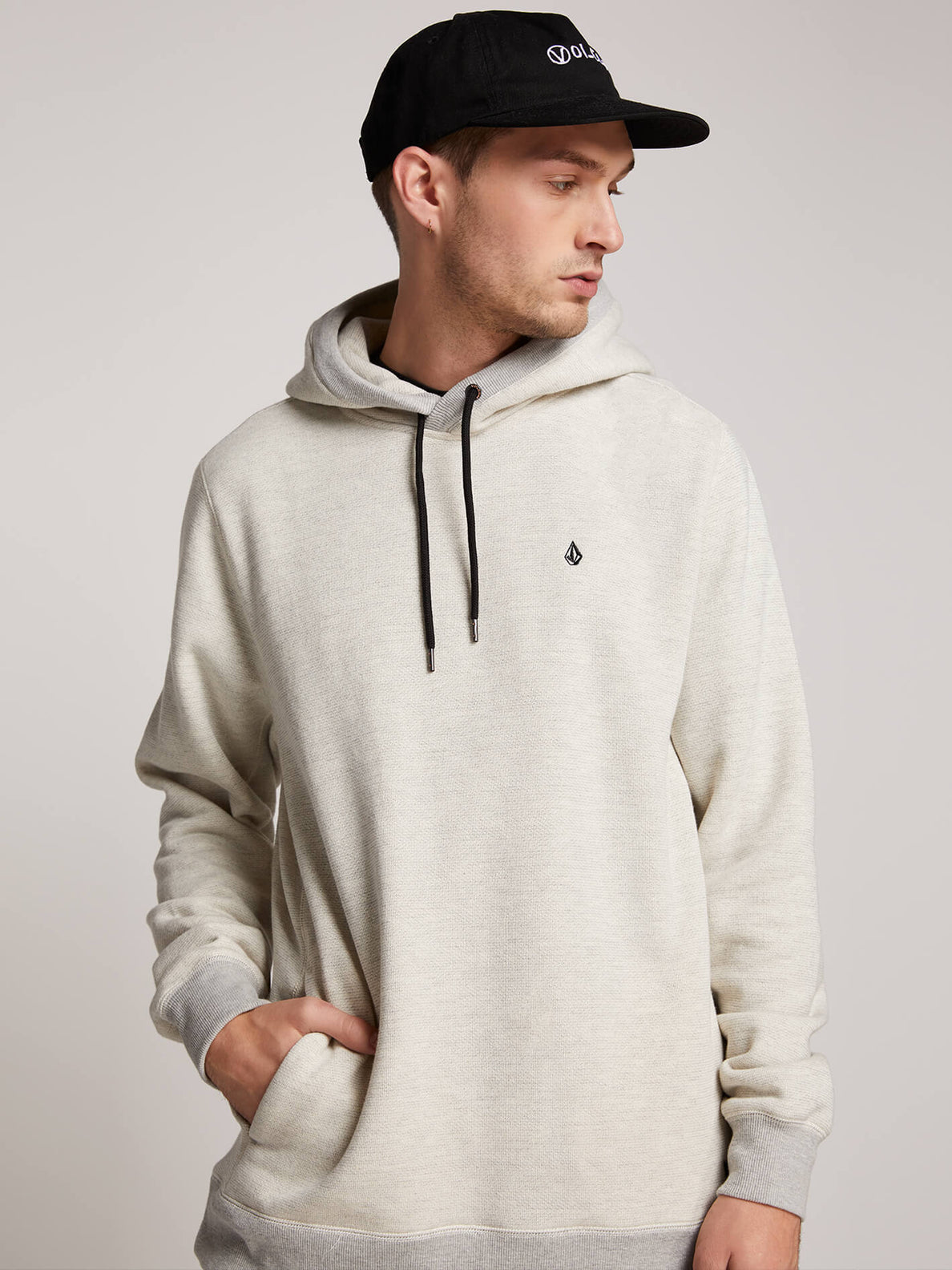 Coder Pullover Hoodie In Grey, Alternate View