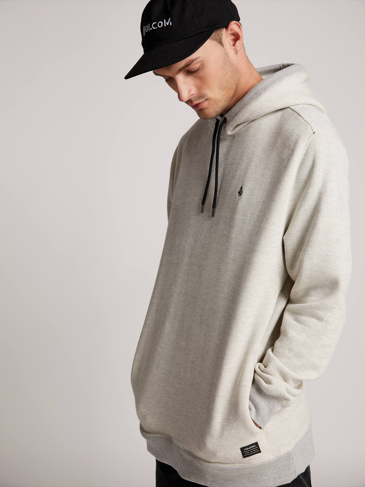 Coder Pullover Hoodie In Grey, Second Alternate View