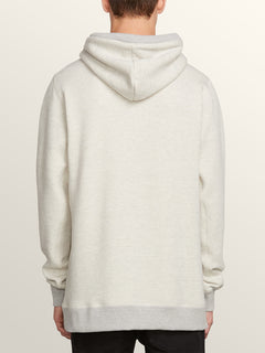 Coder Pullover Hoodie In Grey, Back View