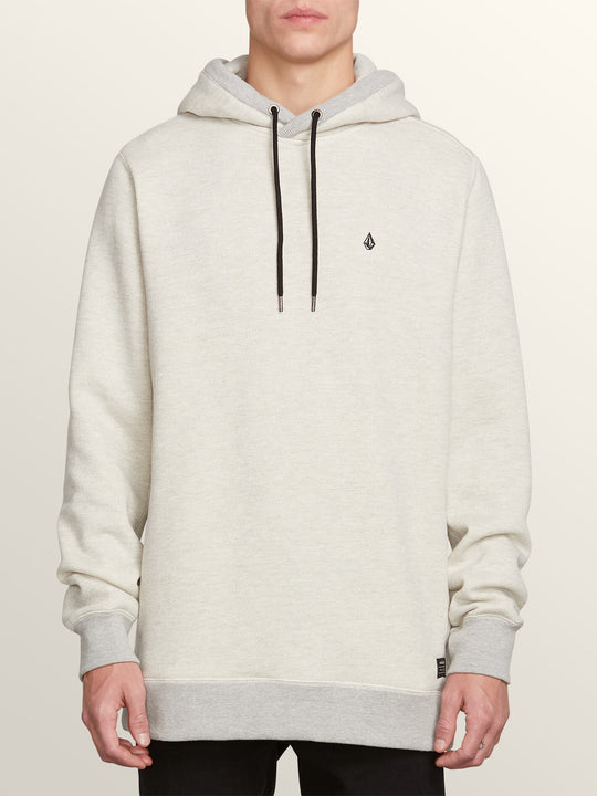 Coder Pullover Hoodie In Grey, Front View