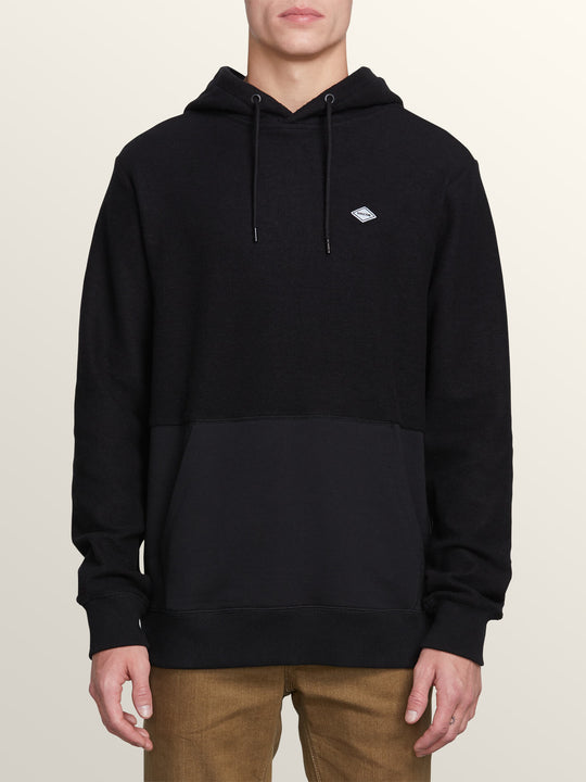 Single Stone Sub Division Pullover Hoodie In Black, Front View
