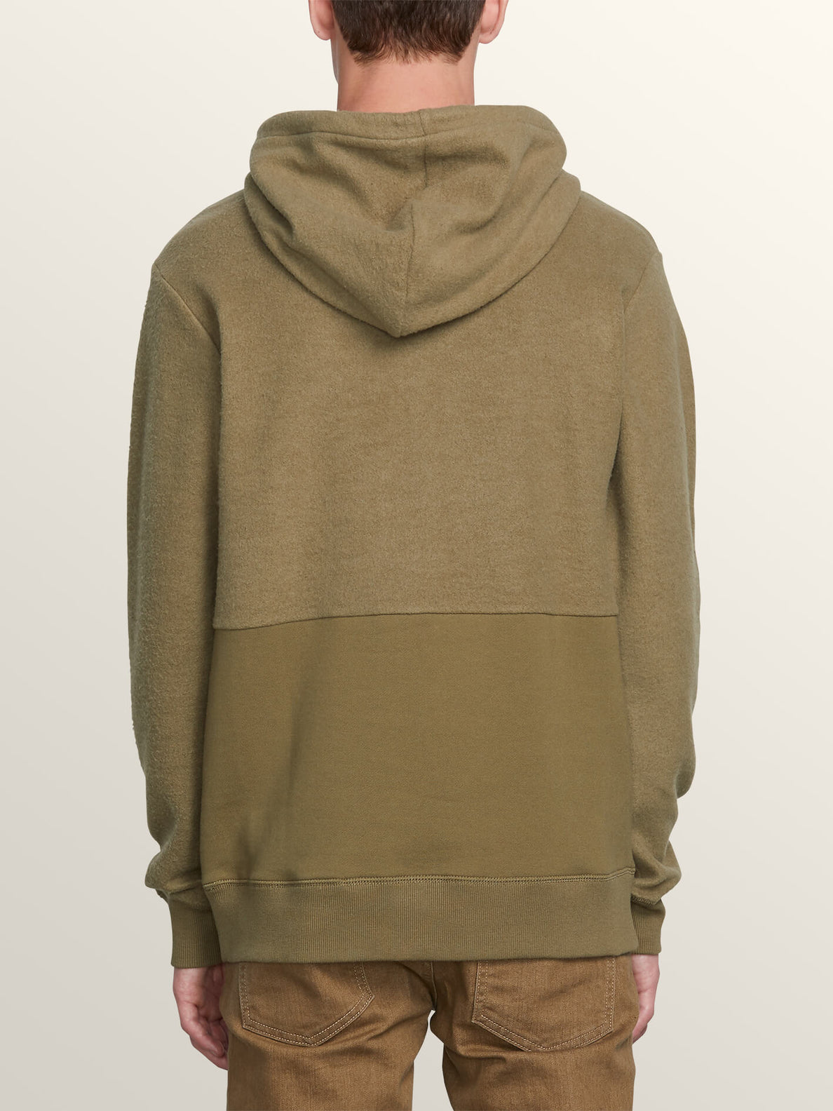 Single Stone Sub Division Pullover Hoodie In Vineyard Green, Back View