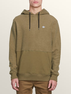 Single Stone Sub Division Pullover Hoodie In Vineyard Green, Front View