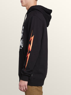 Reload Pullover Hoodie In Black, Alternate View