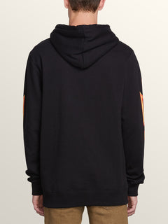 Reload Pullover Hoodie In Black, Back View