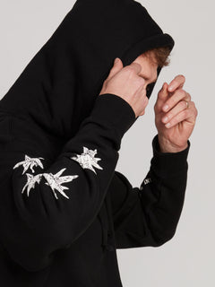 Gtxx Down South Pullover Hoodie In Black, Second Alternate View