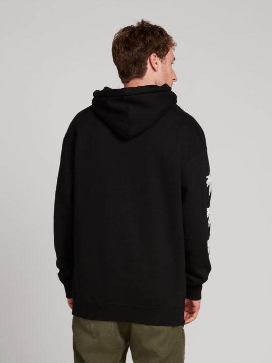 Gtxx Down South Pullover Hoodie In Black, Back View