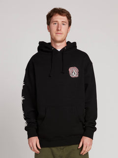 Gtxx Down South Pullover Hoodie In Black, Front View