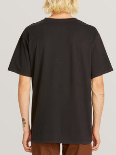 Ozzie Tiger Short Sleeve Tee In Black, Back View