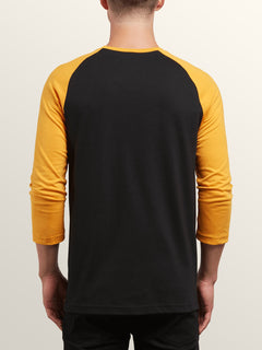 Cage 3/4 Raglan In Black, Back View
