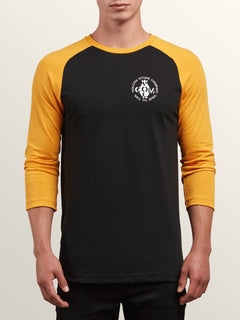 Cage 3/4 Raglan In Black, Front View