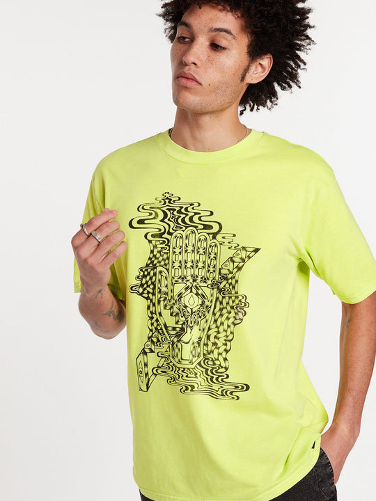 Clairvoyant Short Sleeve Tee - Hilighter Green (A4322005_HIG) [35]