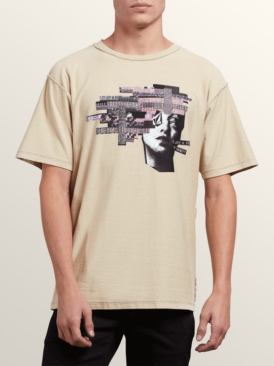 Noa Noise Head Short Sleeve Tee In Clay, Front View