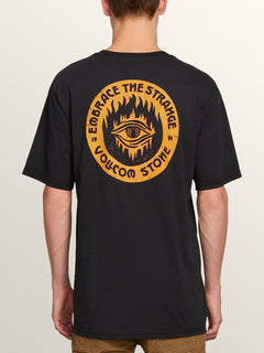 Hot Visions Short Sleeve Tee In Black, Back View