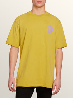 Hot Visions Short Sleeve Tee In Olive, Front View
