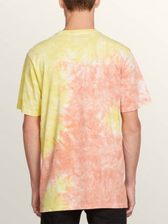 Mc Jagged Short Sleeve Tee In Tropic Yellow, Back View