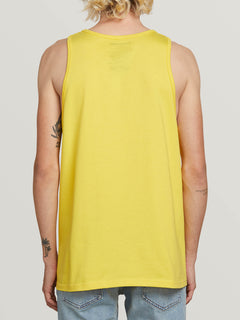 Stone Sound Tank In True Yellow, Back View