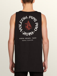 Vpp Crest Tank In Black, Back View