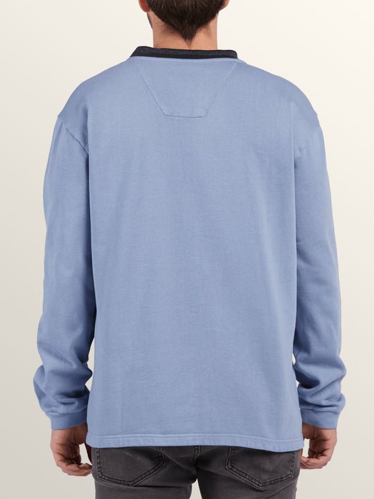 Noa Noise Crew Sweatshirt In Stone Blue, Back View