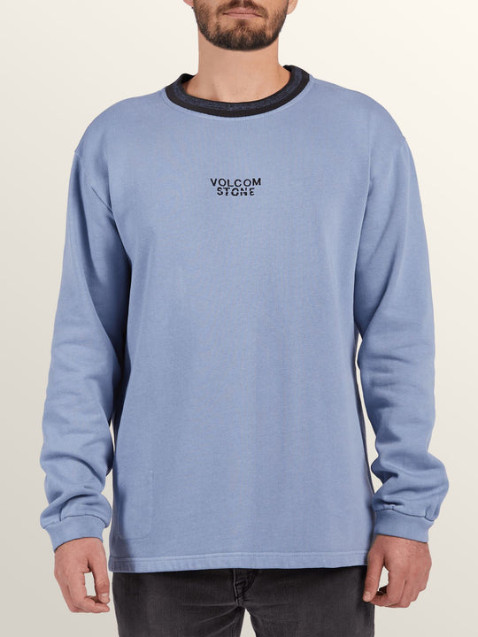 Noa Noise Crew Sweatshirt In Stone Blue, Front View