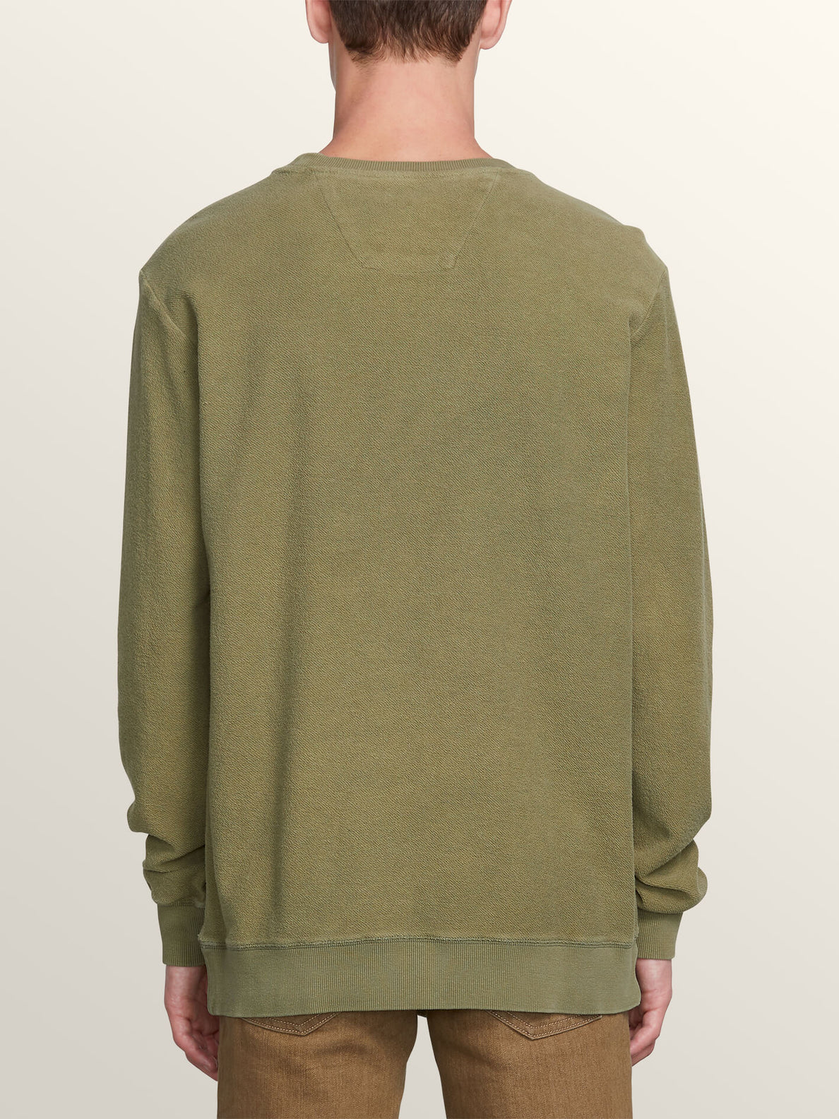 Sub Void Crew Sweatshirt In Vineyard Green, Back View