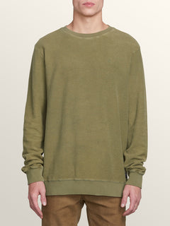 Sub Void Crew Sweatshirt In Vineyard Green, Front View