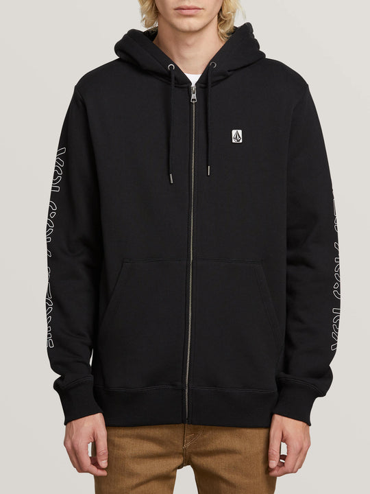 Supply Stone Zip Hoodie In Black, Second Alternate View