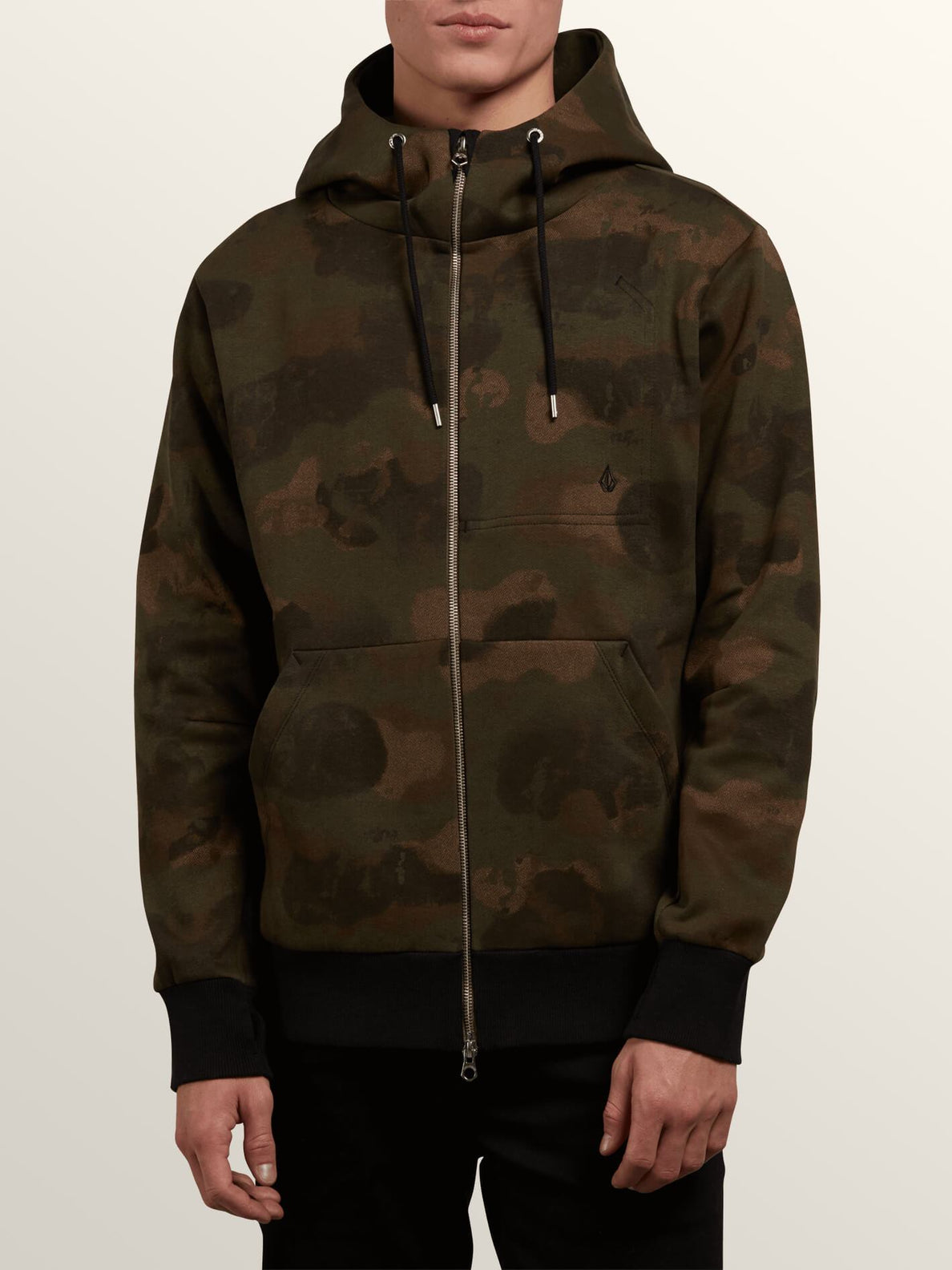 Vsm Empire Zip Hoodie In Camouflage, Front View