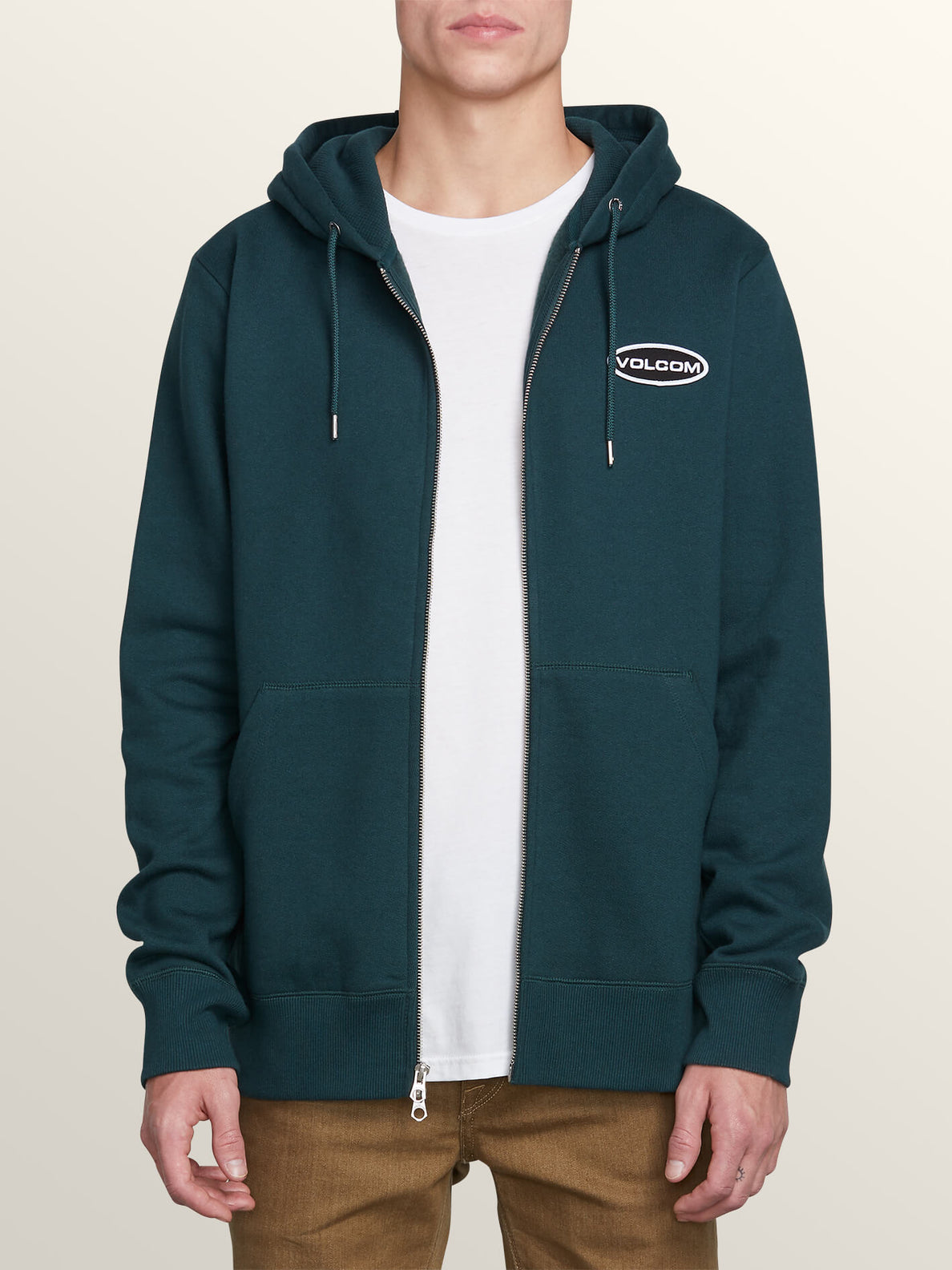 Shop Zip Hoodie In Dark Pine, Alternate View