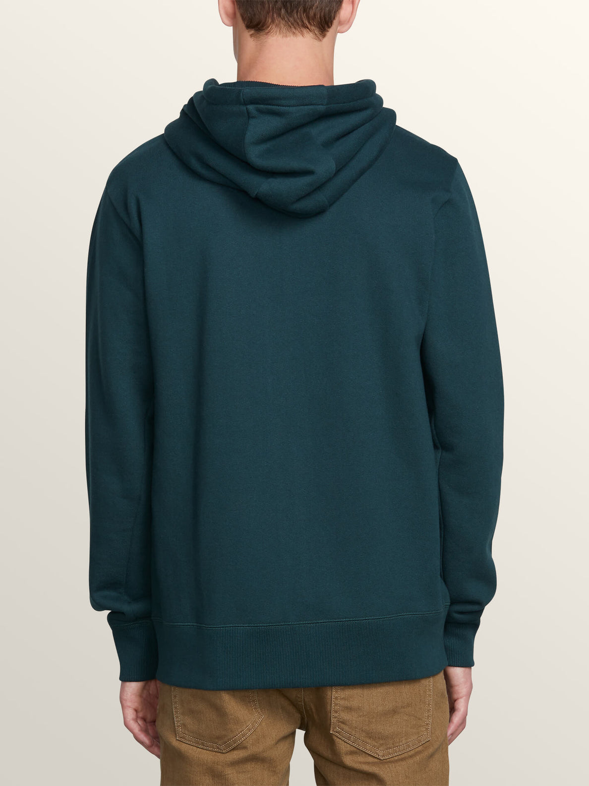 Shop Zip Hoodie In Dark Pine, Back View